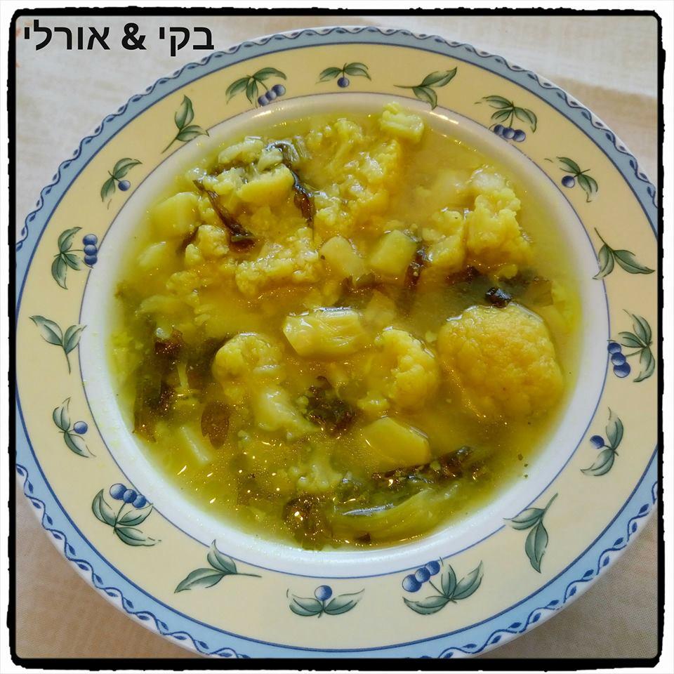 מרק כרובית ותפוחי אדמה