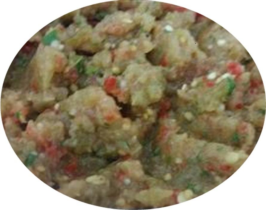 סלט חצילים עגבניות פלפלים חריפים וגמבות-סלדה משווייאה