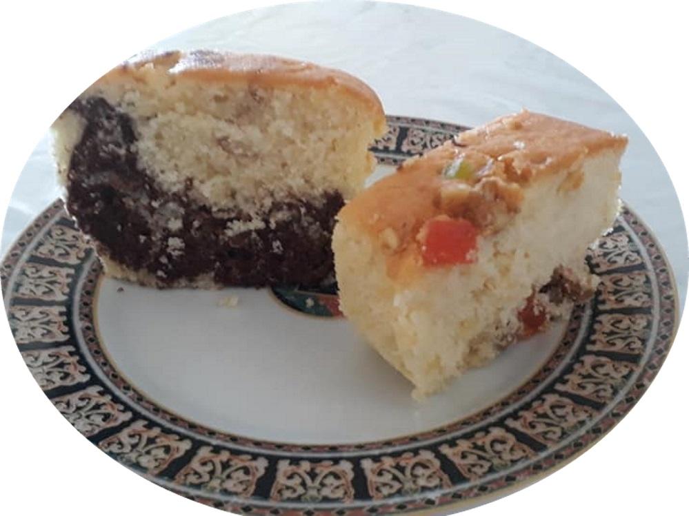 עוגת שיש /עוגת פירות יבשים בחושה רכה וטעימה