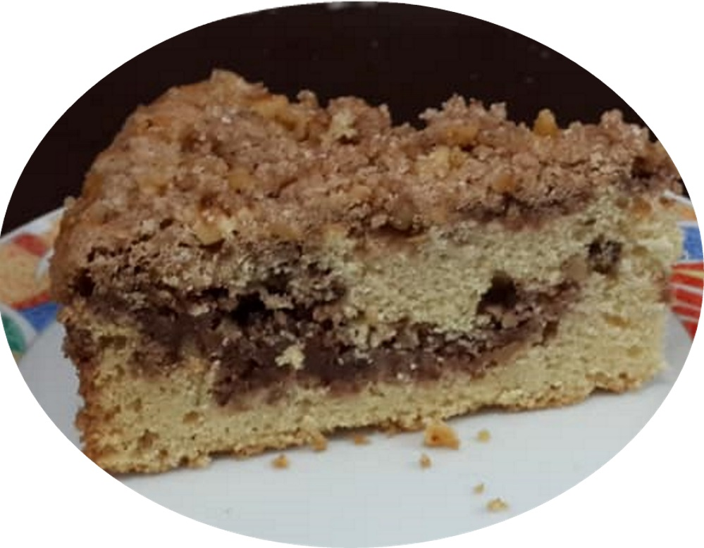 עוגה בחושה אגוזית לקפה