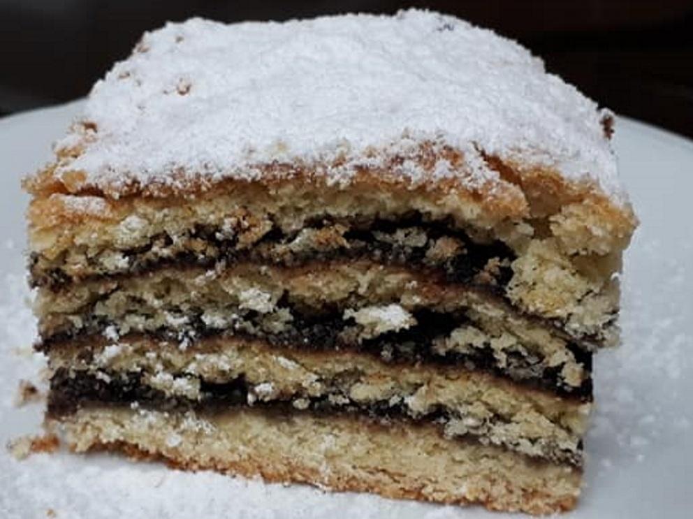 עוגת שמרים שכבות ללא התפחה, במילוי טעים