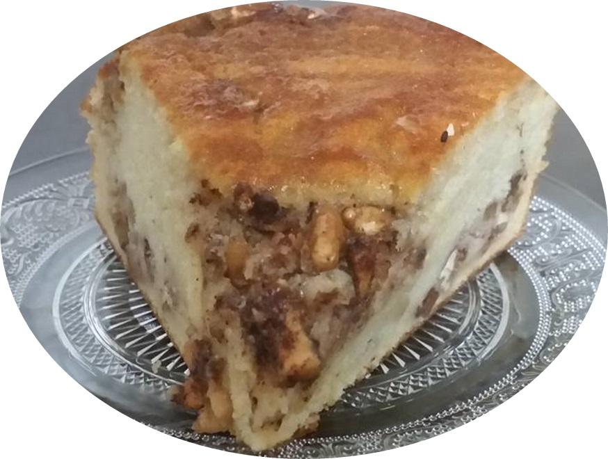 עוגה גבינה בחושה תפוחי עץ ומייפל