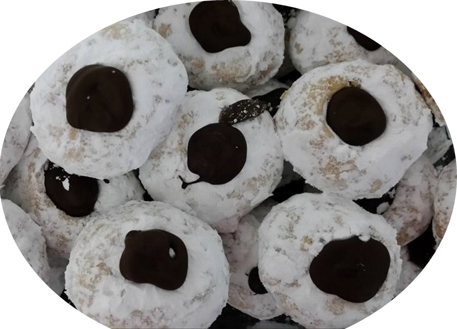 עוגיות מושלגות בוטנים