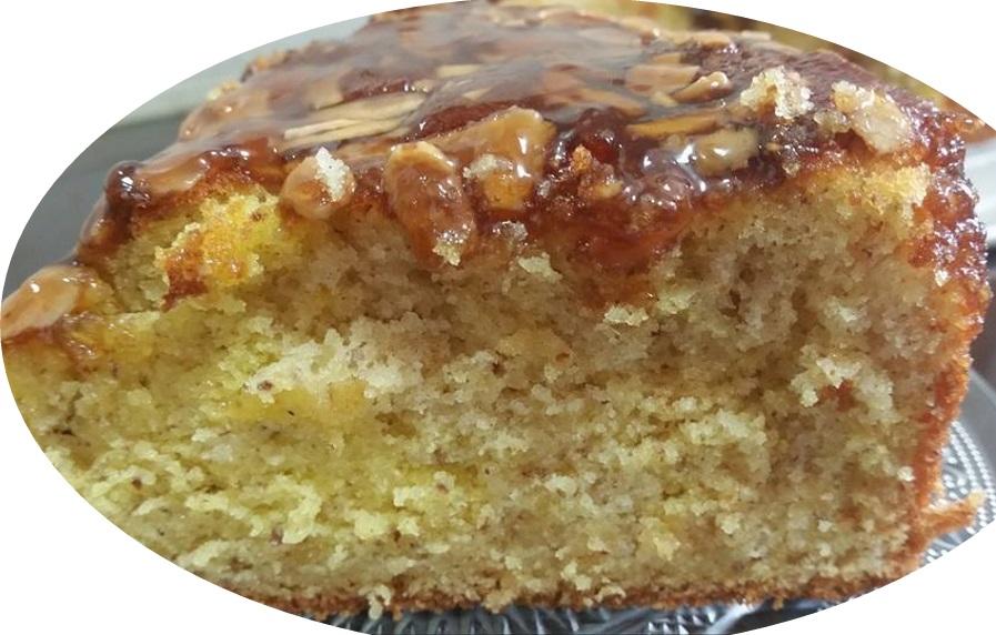 עוגת וניל, תפוז ושקד, בזיגוג מייפל