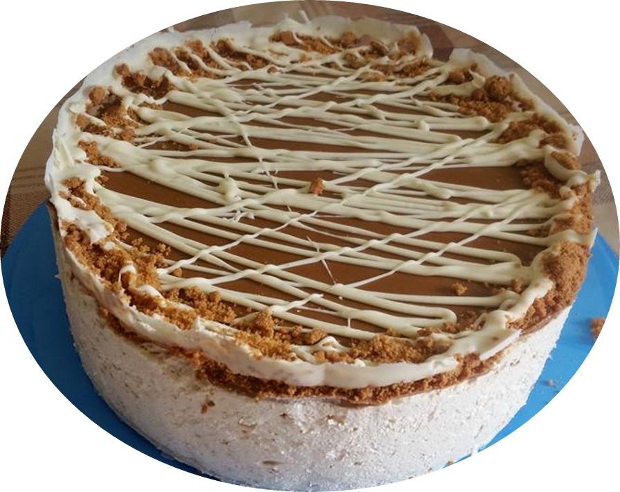 עוגת מוס לוטוס גבינה, ללא תחתית
