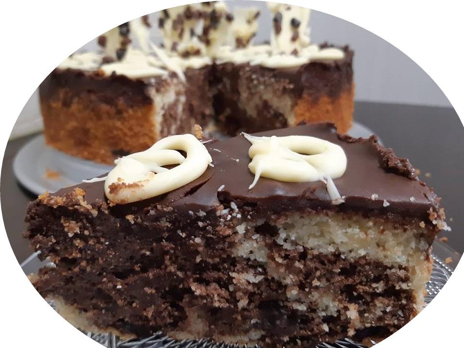 עוגת סולת ושוקולד משוישת