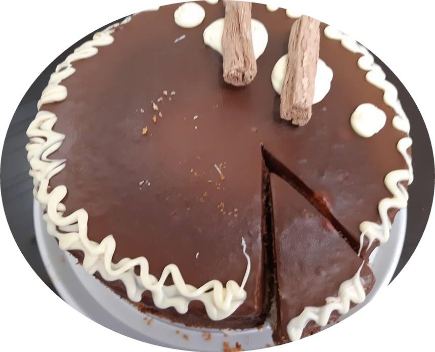 עוגת רוזמרי במילוי מקופלת