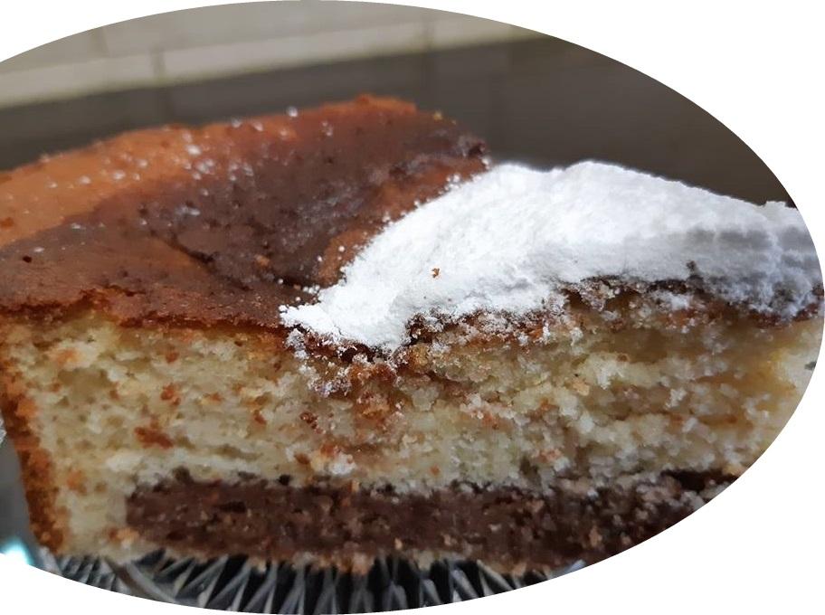 עוגת שיש,חלבה,שקדים ונוטלה