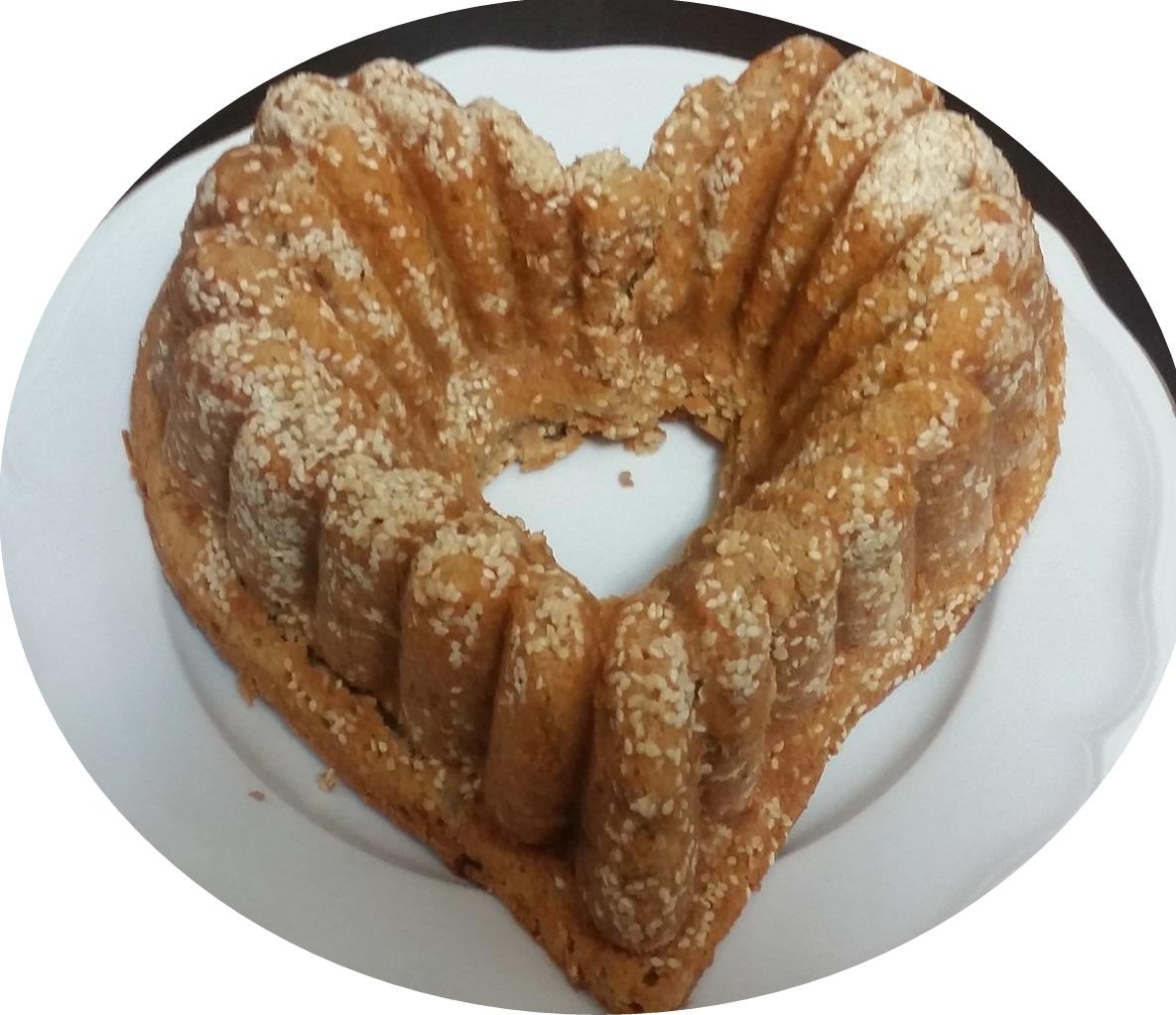 עוגת תפוחים ושמנת