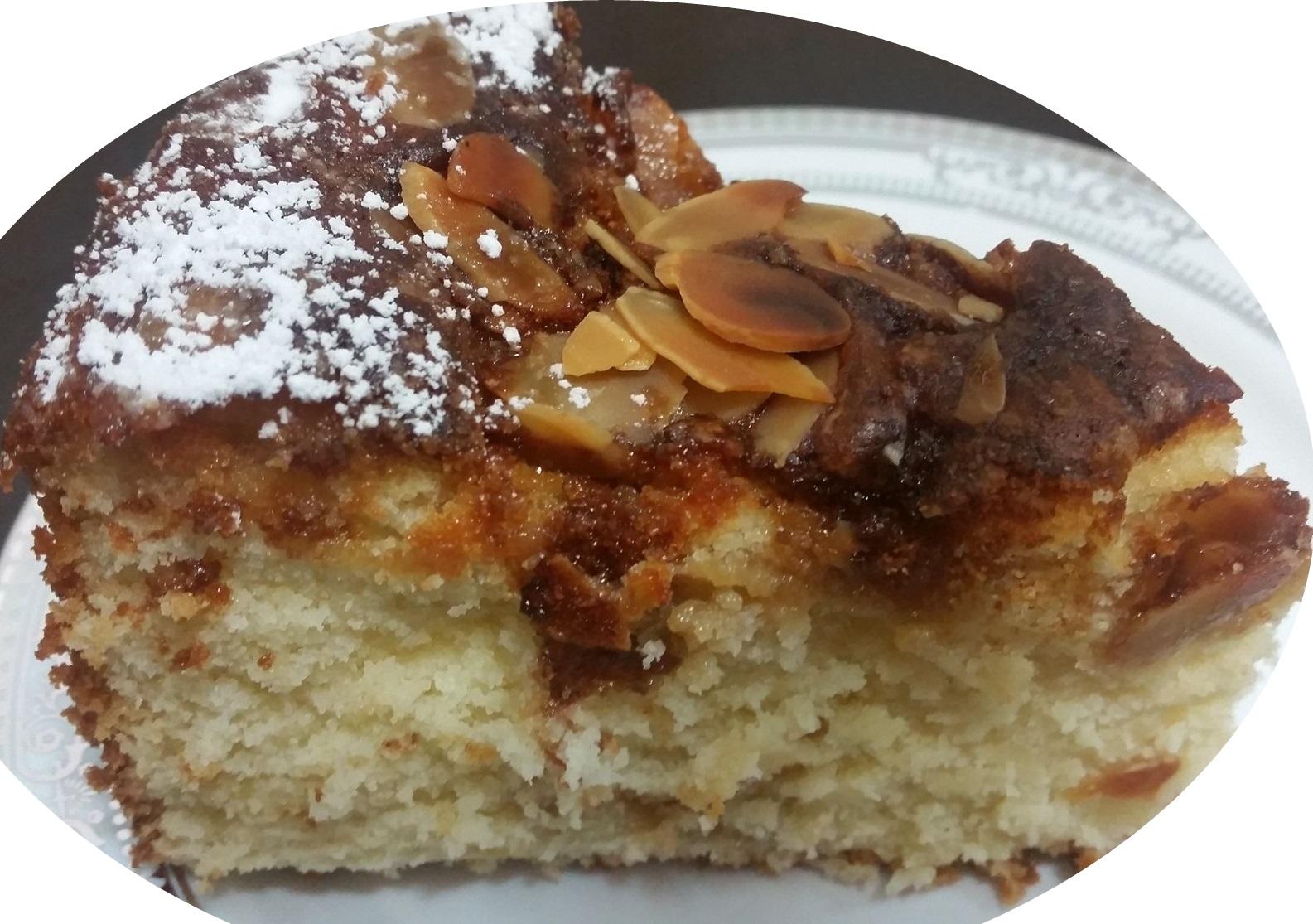 עוגת שמנת וניל ושקדים