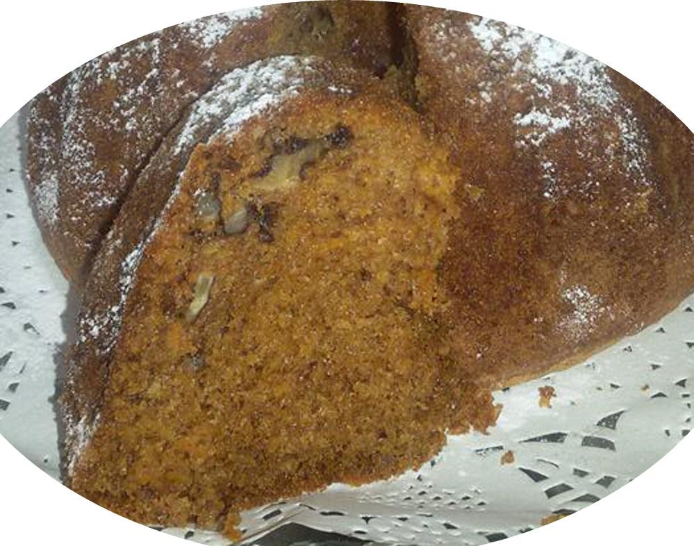 עוגת גזר עם אגוזי מלך ופקאן,קינמון,ציפורן ואגוז מוסקט,