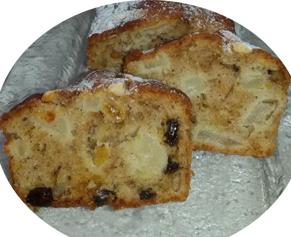 עוגת תפוחים עם קינמון אגוזים וצימוקים