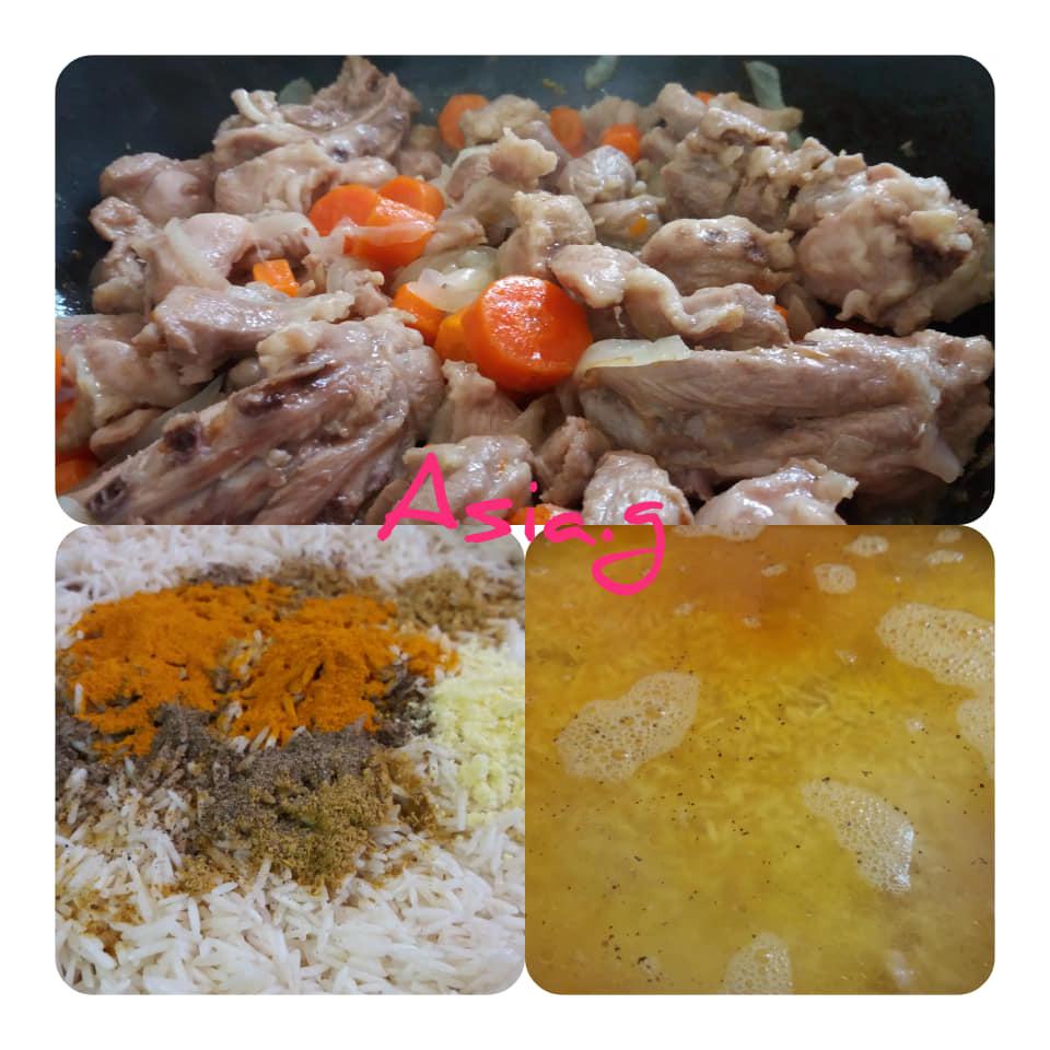 פלוב קווקזי עם בשר/הודו/עוף