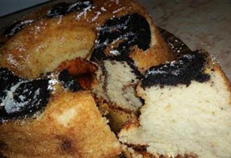 עוגת שיש ספוג אוורירית מהממת וגבוהה במיוחד