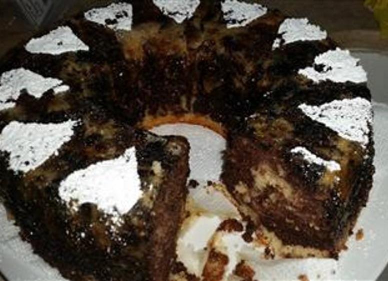 עוגת פוך תפוזים עם קקאו ואגוזי מלך/לוז מקורמלים