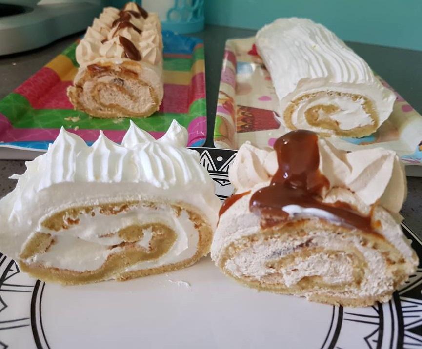עוגת רולדה וניל מטריפה + מאפינס