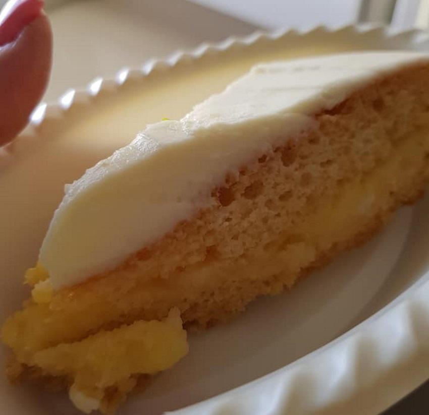 עוגת טורט עם קרם לימון מופלא ומענג