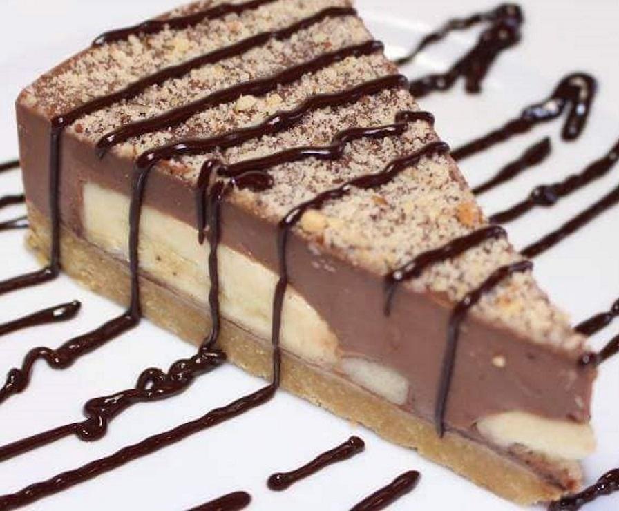 עוגת שוקלד בננה ללא אפייה שלוקחת רק 10-15 דקות