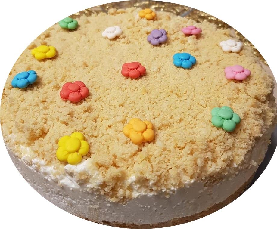 עוגת שמנת פירורים