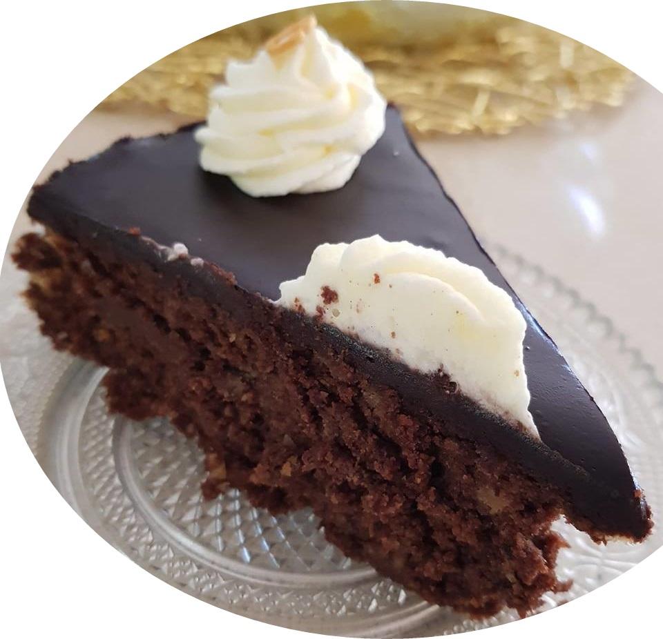 עוגת שוקולד בציפוי גנאש ללא מיקסר