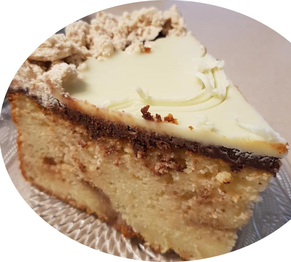 עוגת שוקולד לבן וחלבה