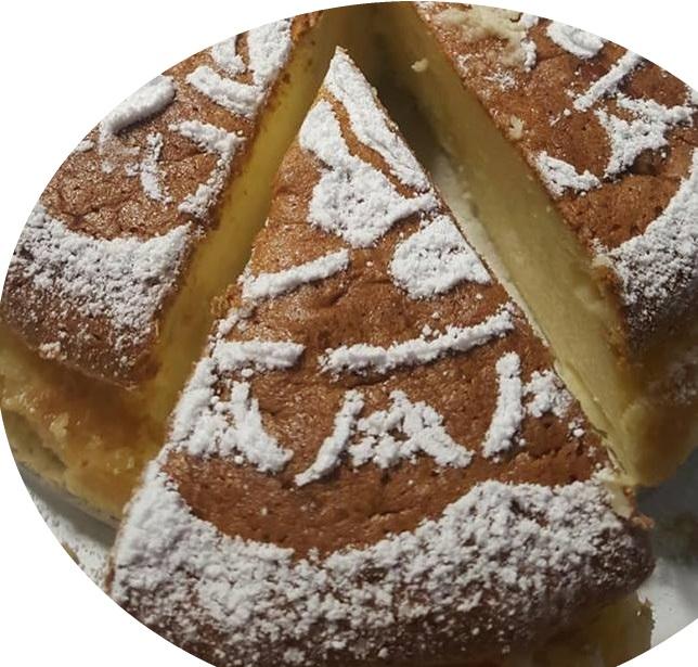 עוגת שמנת ושקדים אפוייה. ..מומלצת בחום