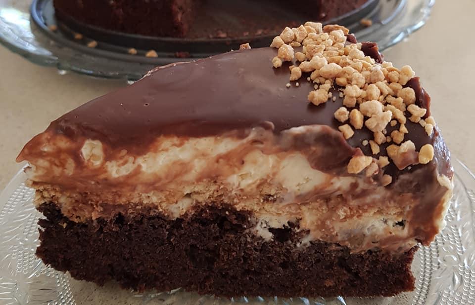 עוגת שוקולד קרמית