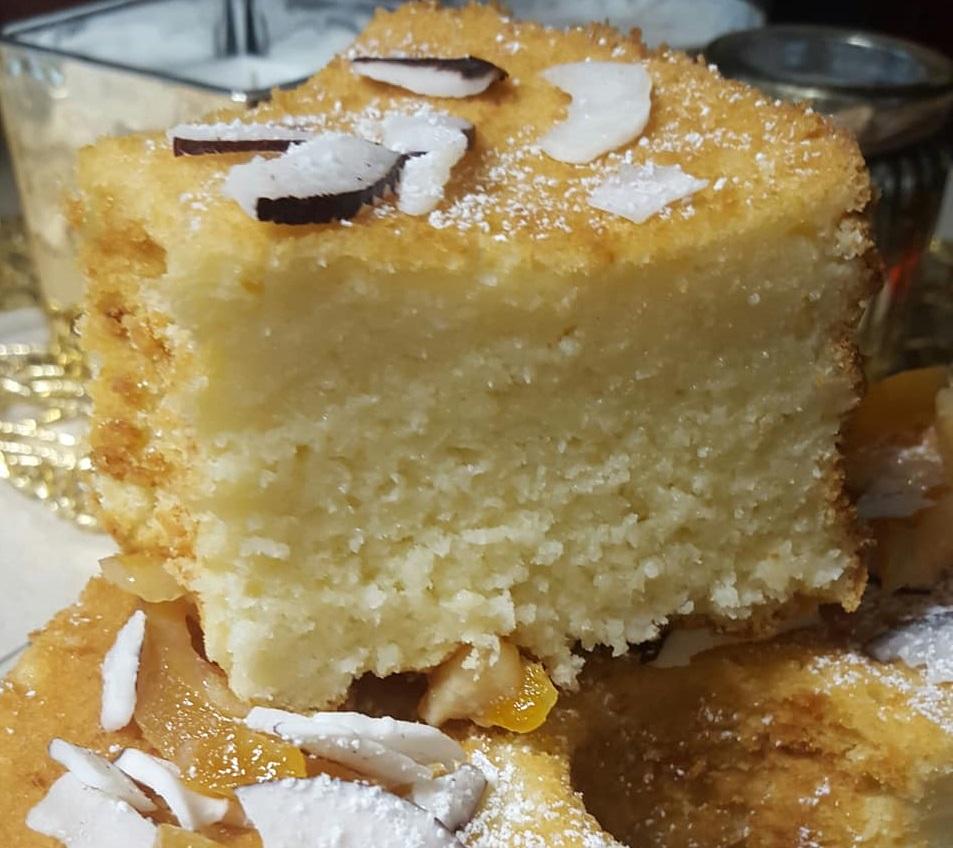 עוגת טורט תפוז לימון קוקוס ויוגורט