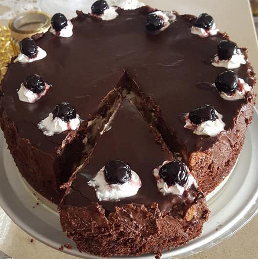עוגה אפויה שוקולד וגבינה ללא מיקסר
