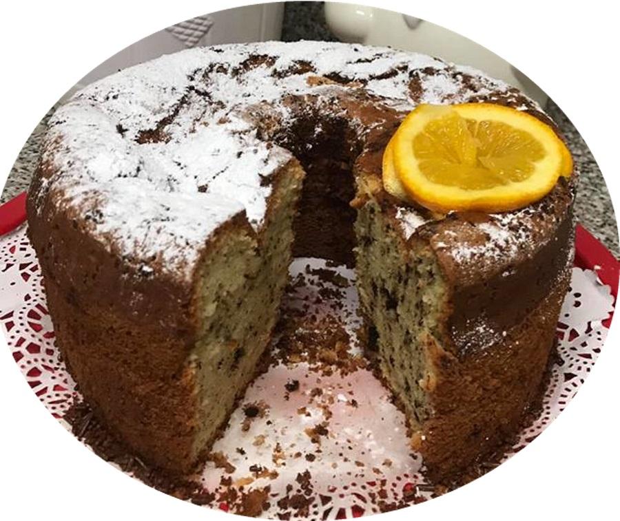 עוגת תפוזים גבוה עם שוקולד צ׳יפס - מעדן
