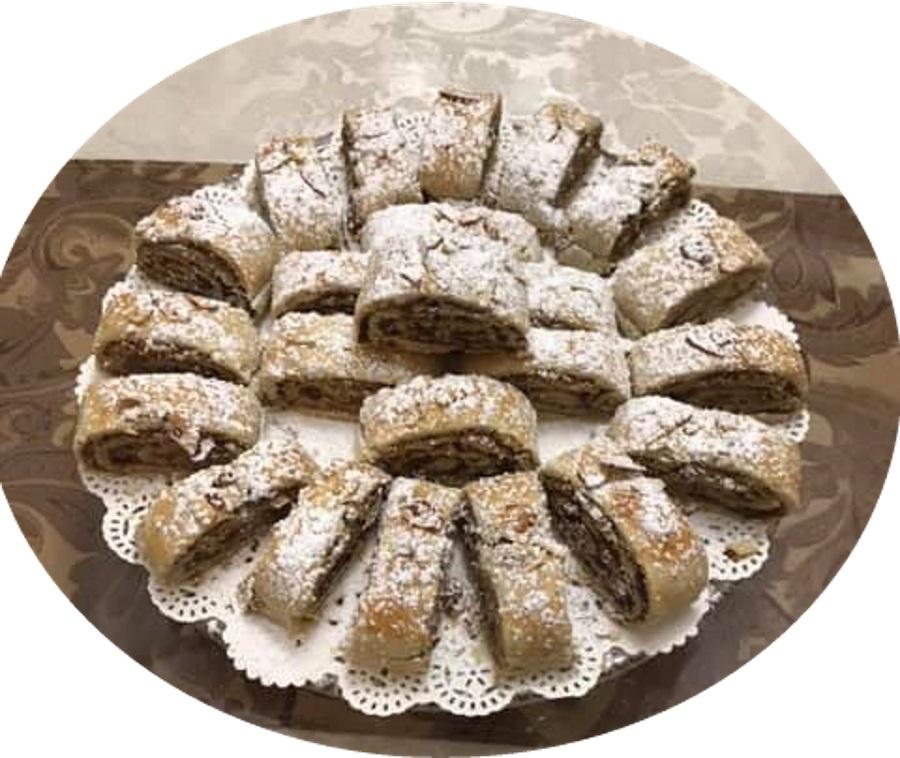 מגולגלות בצק פריך נוטלה אגוזים - מעדן