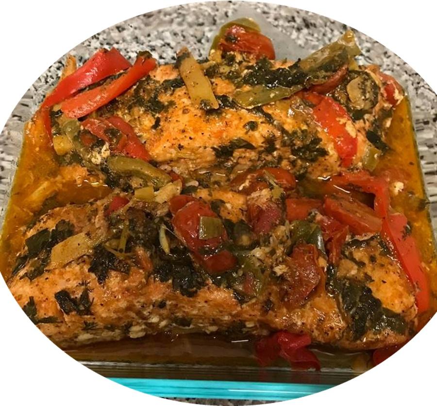 דגים סלמון בתנור מעדן