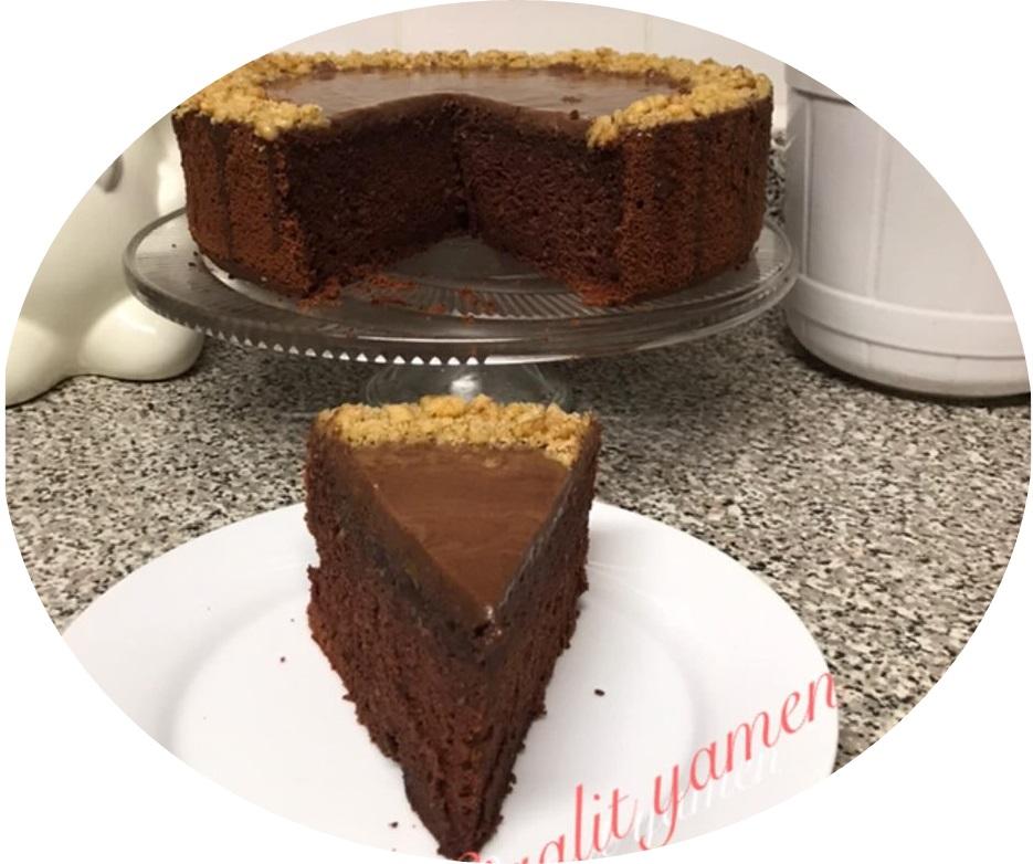 עוגת שוקולד אגוזים גאנש