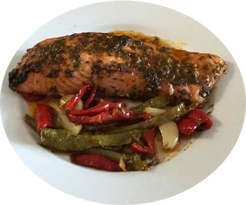 דג סלמון בתנור חריף אש חמוץ מתוק טעים מאוד
