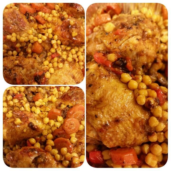 צלי עוף וגרגרי חומוס