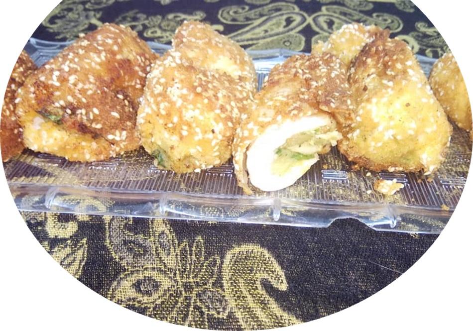 חזה עוף ממולא בפירה תפוא ופטריות