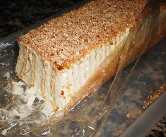 עוגת זברה (עוגת גלידה עם ביסקוויטים) של אורלי
